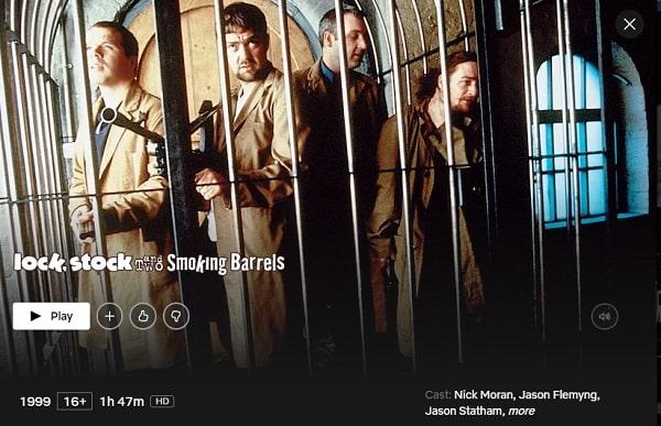 Lock, Stock and Two Smoking Barrels (1998): Watch it on Netflix
