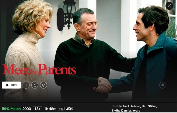 Watch Meet the Parents (2000) on Netflix