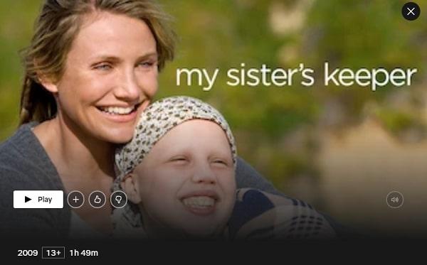 Watch My Sister's Keeper (2009) on Netflix
