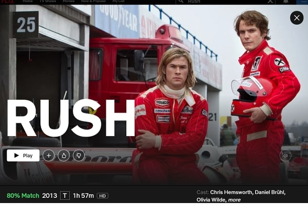 Watch Rush (2013) on Netflix