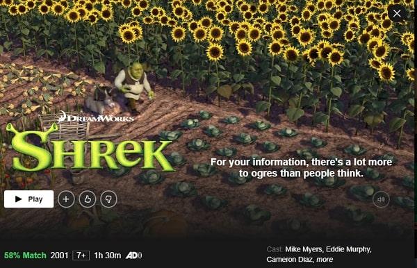 Watch Shrek (2001) on Netflix