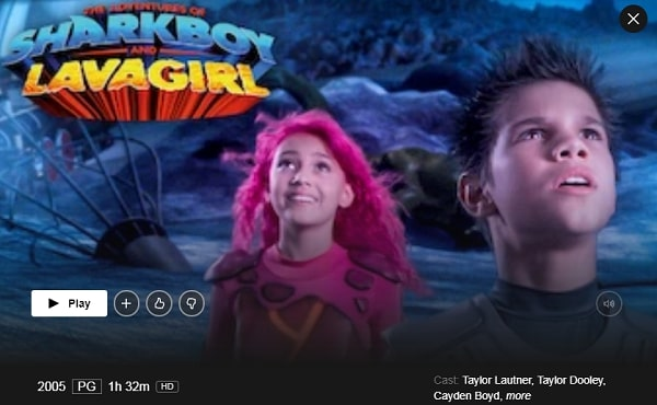 Watch The Adventures of Sharkboy and Lavagirl (2005) on Netflix