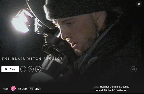 Watch The Blair Witch Project (1999) on Netflix