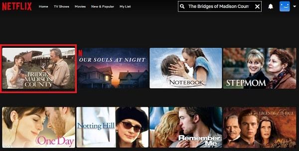Watch The Bridges of Madison County (1995) on Netflix