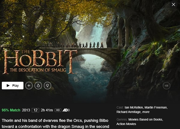 Watch The Hobbit: The Desolation of Smaug (1988) on Netflix