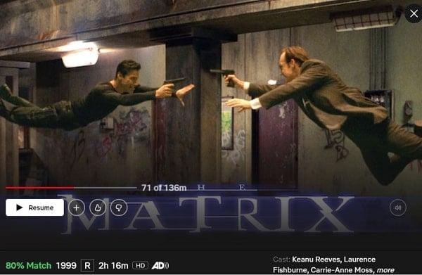 Watch The Matrix (1999) on Netflix
