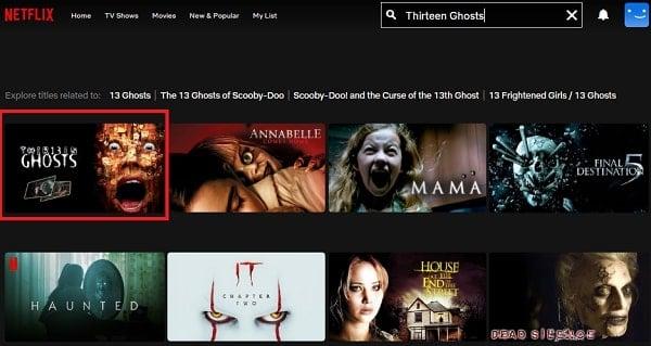 Watch Thirteen Ghosts (2001) on Netflix