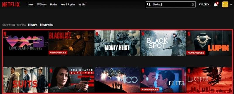 Watch Blindspot on Netflix 1