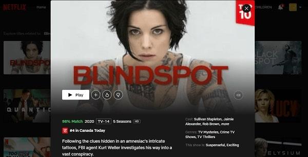 Watch Blindspot on Netflix 3