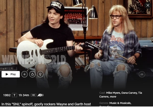 Watch Wayne's World (1992) on Netflix