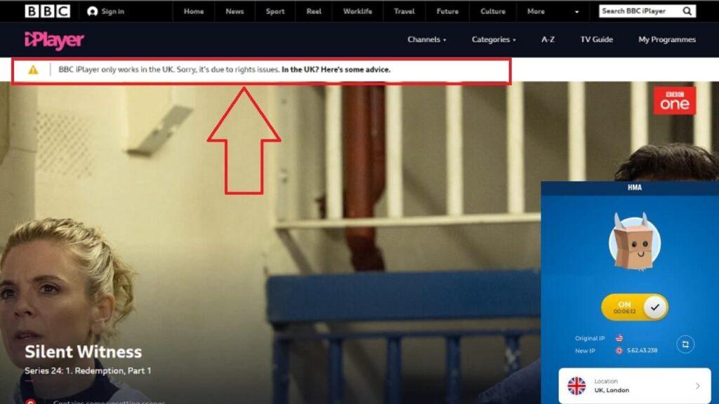 HideMyAss UK BBC iPlayer