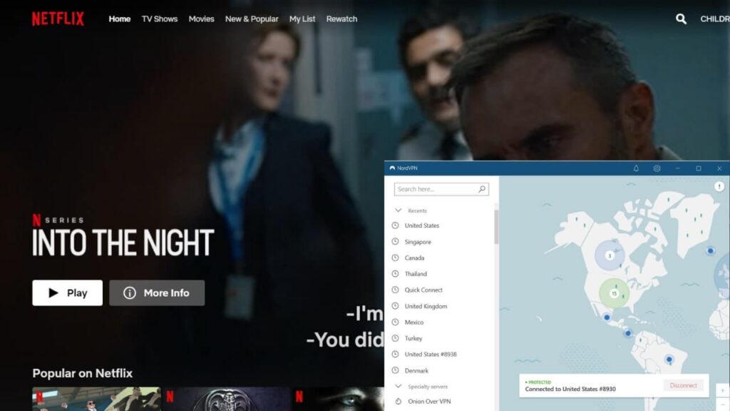 Unblocking Netflix with NordVPN