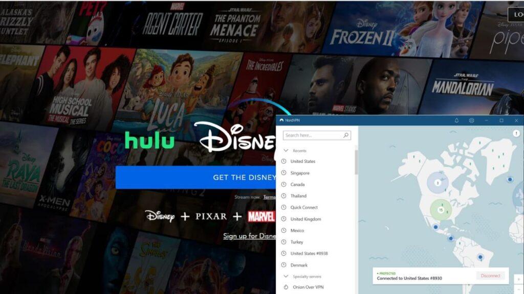 Unblocking Disney+ with NordVPN
